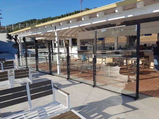 Θεσσαλονίκη προϊόντα αλουμινίου Ανεμοθράυστης beach bar