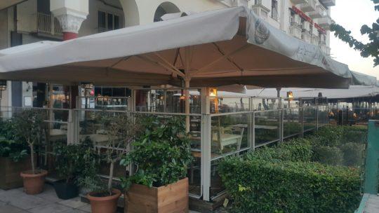 Θεσσαλονίκη προϊόντα αλουμινίου Ανεμοθράυστης μεζεδοπολείου